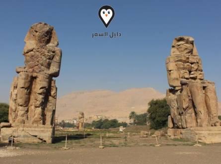 تمثالا ممنون بالأقصر – الحزن والبكاء على رحيل البطل ممنون