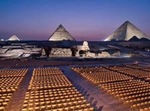 عرض الصوت والضوء في الأهرامات – صن بيراميدز