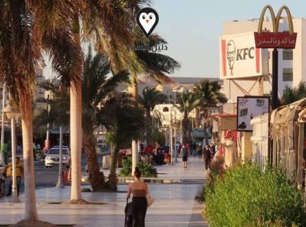 شارع مارينا الغردقة – أحد الشوارع السياحية المميزة في الغردقة